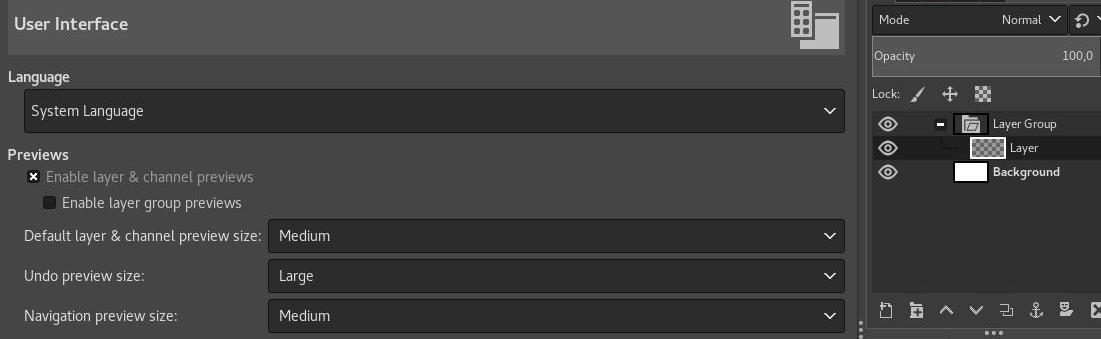 Disable preview of layer groups
