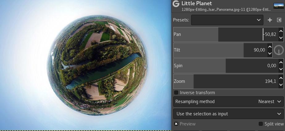 Little Planet filter