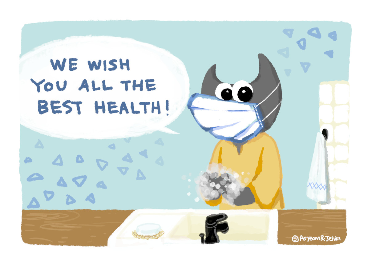 We wish you all the best health! - Wilber and co. comics strip