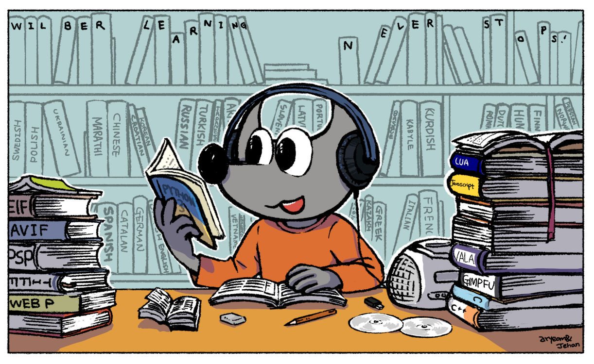 Wilber Learning never stops! - Wilber and co. comics strip