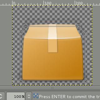Cage transform tool screenshot